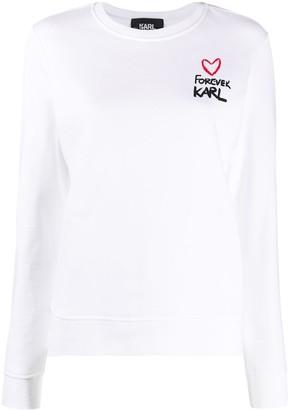 Karl Lagerfeld Paris Forever crew neck sweatshirt