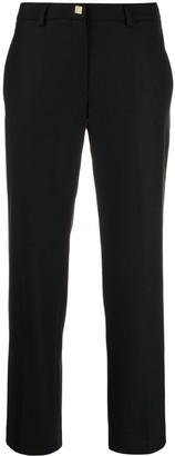 Versace straight plain trousers