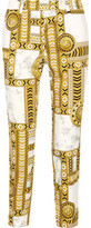Versace Printed Cotton-Blend Skinny-Leg Pants