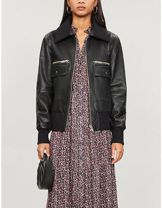 BA&SH Astor leather jacket