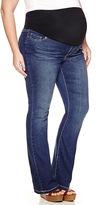 Asstd National Brand Bootcut Jeans-Plus Maternity