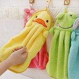 2PCS Cute Animal Microfiber Kids Children Cartoon Absorbent Hand Dry Towel Lovely Towel For Kitchen Bathroom Use by edealing