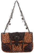 Luella Leather-Trimmed Suede Shoulder Bag