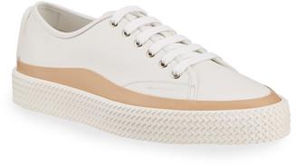 Salvatore Ferragamo Men's Storm Woven-Sole Leather Sneakers