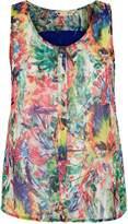 Yumi Tropical Parrot Print Shirt