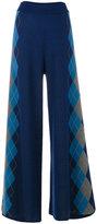 Stella McCartney argyle detail flared trousers - women - Wool - 38