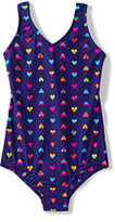 Classic Girls Plus Size V-neck One Piece Swimsuit-Brilliant Turquoise