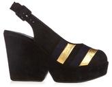 Sonia Rykiel X Robert Clergerie Dylan suede wedge sandals