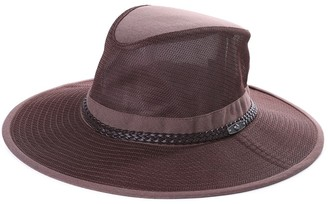 Comhats Packable Mesh Safari Hat Unisex Breezer Hat Wide Brim Sun Hat UPF 50 Sun Protection with Chin Strap Bucket Fishing Hiking Hat Coffee 57-58cm L