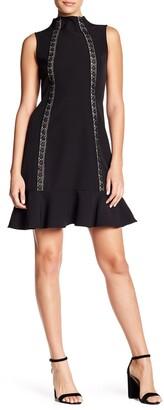 Nanette Lepore Crochet Lace Ruffle Hem Dress