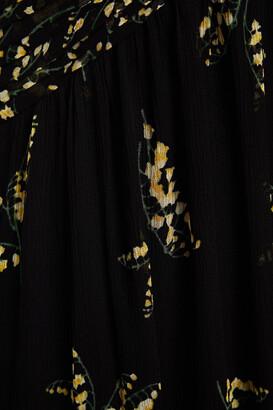 BA&SH Masha Open-back Tiered Floral-print Georgette Maxi Dress