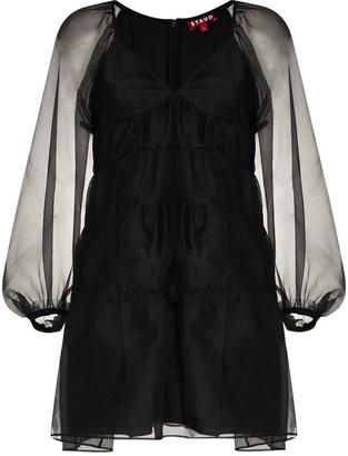STAUD Meadow sheer organza dress