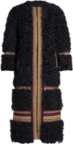 RED Valentino Embroidered shearling coat