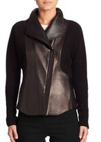 Akris Hassan Cashmere & Leather Jacket