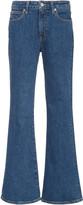 Slvrlake SLVRLAKE Crystal Stretch Mid-Rise Flared Jean