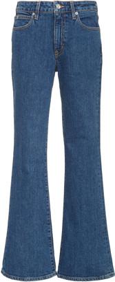 SLVRLAKE Crystal Stretch Mid-Rise Flared Jean