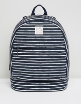 Jack Wills Stripe Cotton Backpack