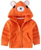 JELEUON Kids Baby Unisex Fleece Animal Cartoon Hoodies Jackets Outwear 1-2T