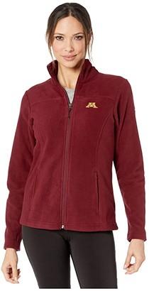 Columbia College Minnesota Golden Gophers CLG Give and Gotm II Full Zip Fleece Jacket (Rich Wine) Women's Fleece