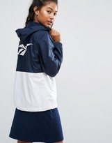 Reebok Classics Block Windbreaker Jacket With Back Print