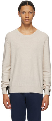 Maison Margiela Beige and Black Gauge 12 Split Sweater
