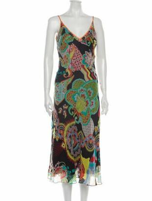 Christian Lacroix Paisley Print Long Dress w/ Tags Black