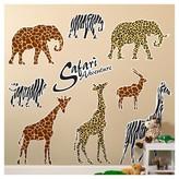 BuySeasons Safari Animal Adventure Giant Wall Decal