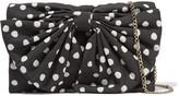 RED Valentino Embellished polka-dot canvas shoulder bag