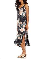 Billabong Dreamy Garden Floral Midi Slip Dress