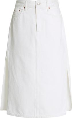 GRLFRND Denim Nora Rigid High-Rise Skirt