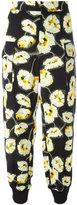 Marni high-waist floral trousers