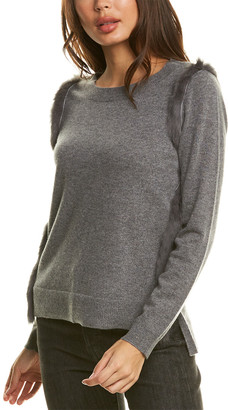 InCashmere High-Low Cashmere Sweater