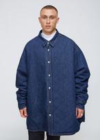 Raf Simons Dark Navy Padded Denim Shirt Coat