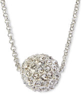 JCPenney MONET JEWELRY Monet Silver-Tone Crystal Fireball Pendant Necklace