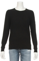 White + Warren Cashmere Ottoman Rib Trim Sweater