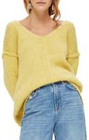 Topshop Oversized V-Front Sweater