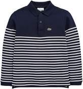 Lacoste Boys Long Sleeve Stripe Polo