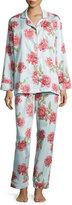 BedHead Rose-Print Classic Pajama Set, Light Blue
