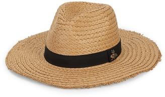 Vince Camuto Bee-Embellished Panama Hat