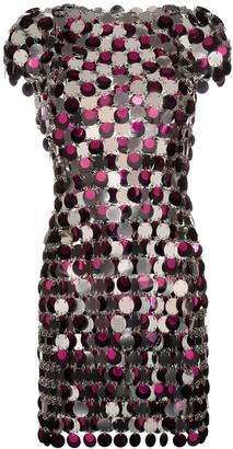Paco Rabanne Mirror Disc Chain Mini Dress