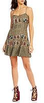 Chelsea & Violet V-Neck Sleeveless Sequin Slip Dress