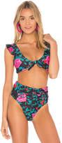 Motel Bev Bikini Top in Black