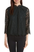 Joie Women's Frayda Sheer Sleeve Lace Top