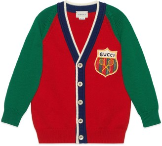 Gucci Children's cotton cardigan with Tennis