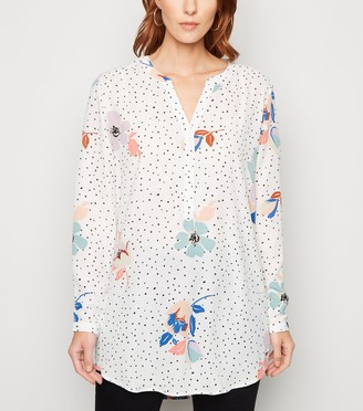 New Look JDY Floral and Spot Long Shirt