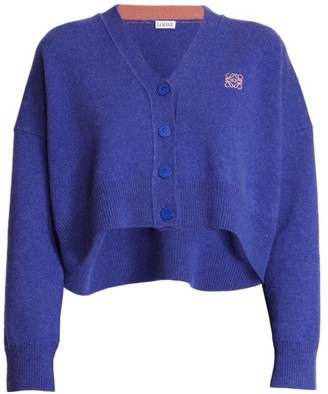 Loewe Anagram Cropped Wool Sweater