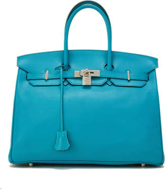 Hermes Birkin 35 Leather Satchel Bag