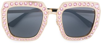 Gucci Oversized acetate glitter sunglasses