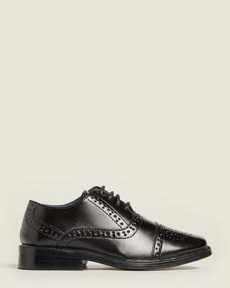 Joseph Allen Toddler Boys) Black Brogue Oxfords