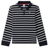 Petit Bateau Boy's ML Smo/Co Polo Shirt,(Manufacturer Size:8A 8Ans)